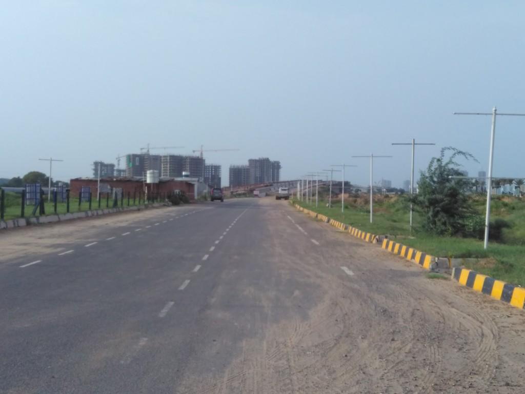 Approaching Railway Over Bridge Under Construction On Dwarka Expressway