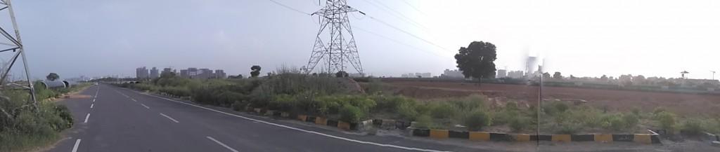 Panoramic View Of The Dwarka Expressway at Gurgaon