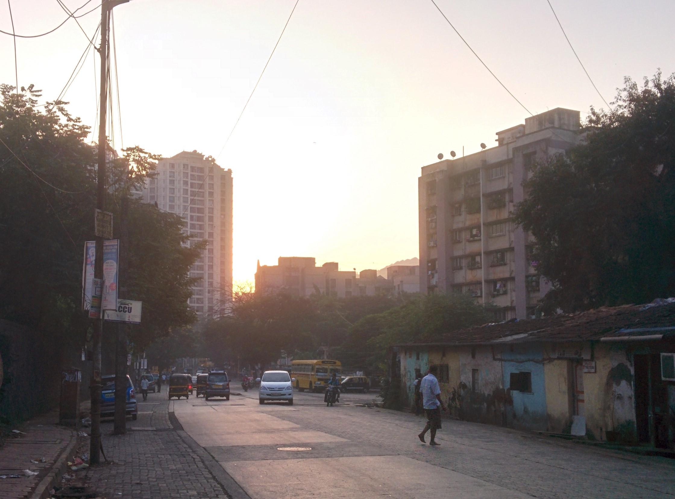 Chandivali Farm Road, right turn Mhada and Singhad College