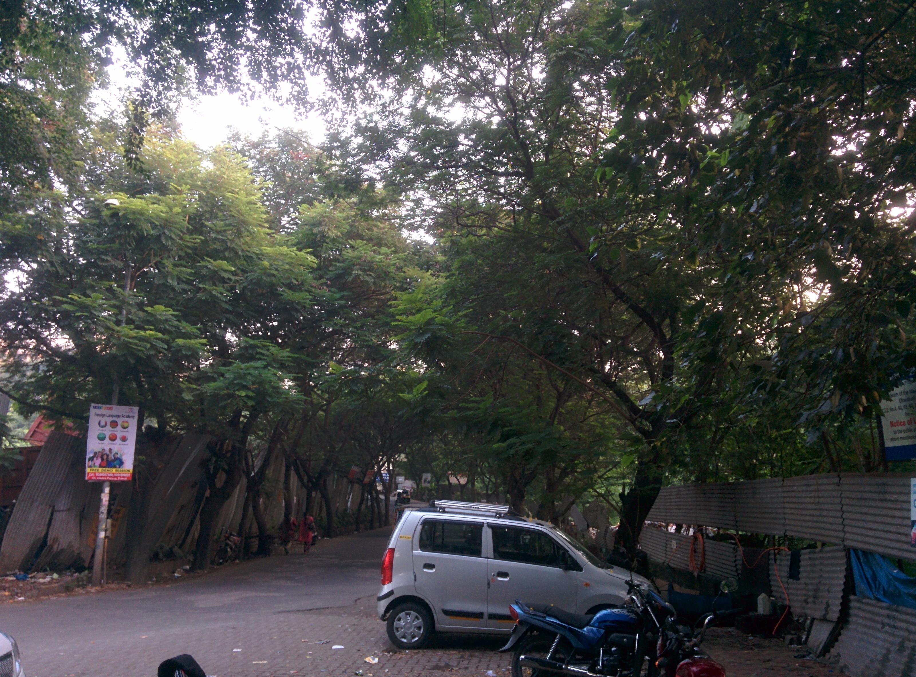 Raheja Vihar Entrance up ahead