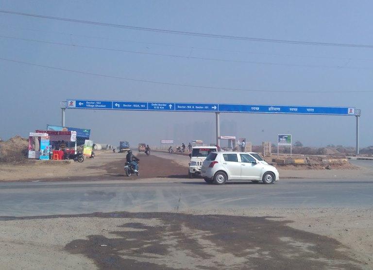 Dwarka Expressway intersection at Basai, Sector 102