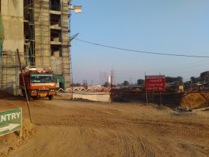 Excavation work at ILD Arete site