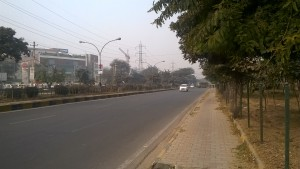 Main road Sector 43 Gurgaon