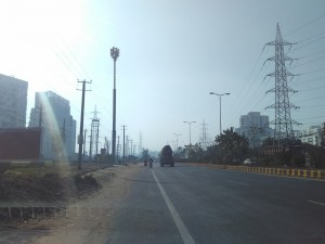 Extension road in front of Palm Drive