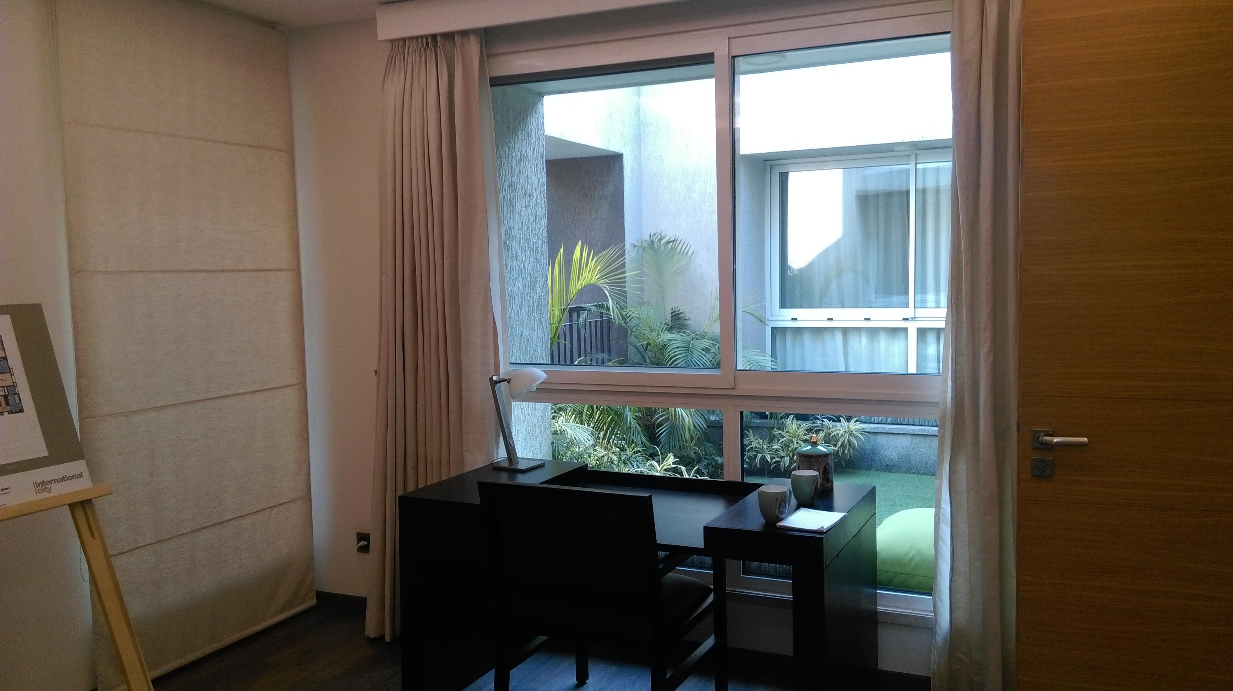 Large windows with toughened glass at Sobha International City