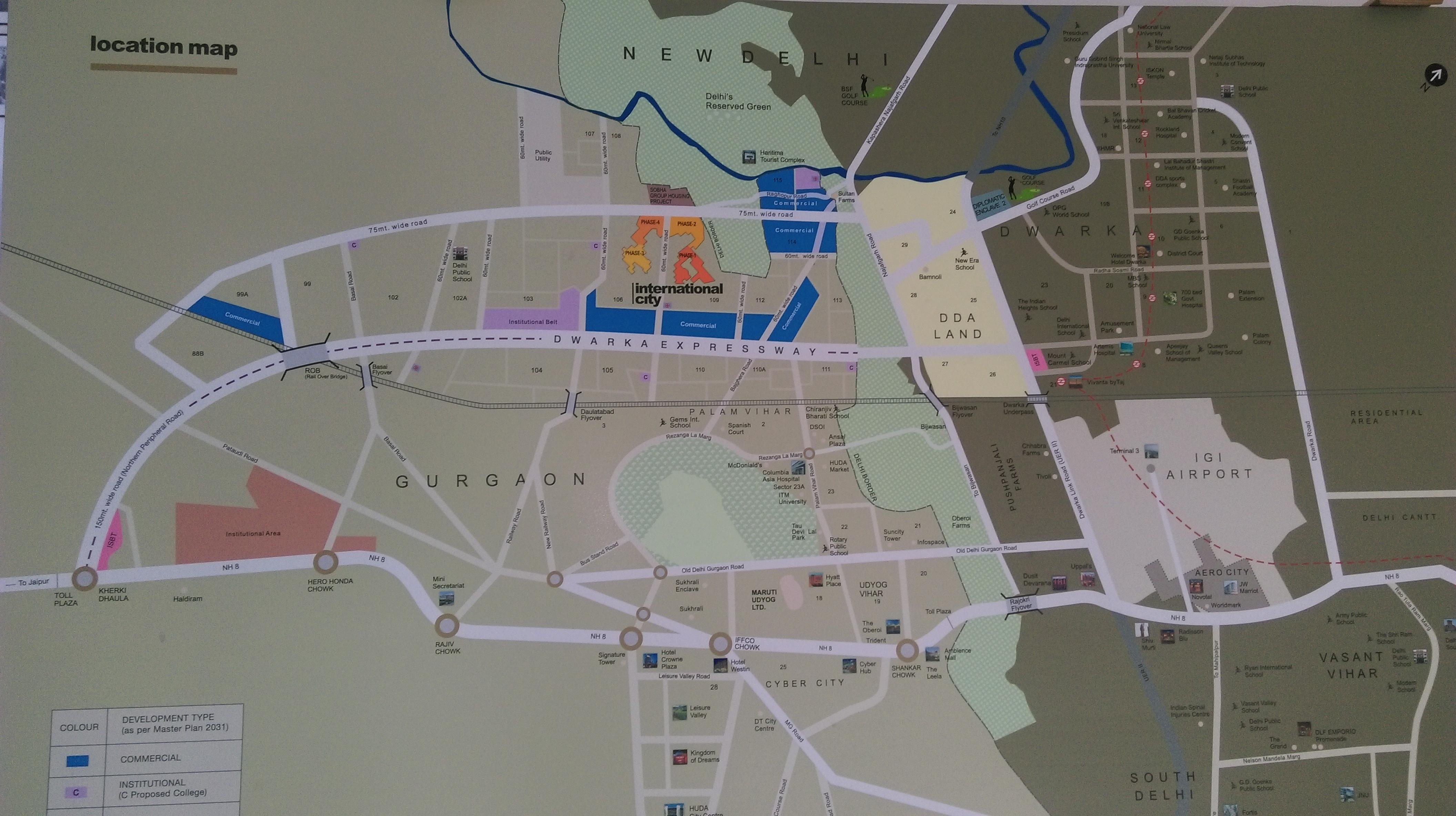 Location map of Sobha International City
