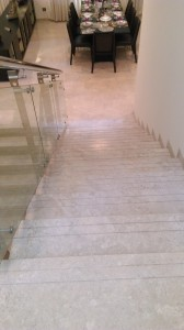 Stairs of German standards at Sobha International City, Phase 2