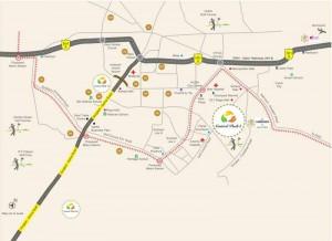 Central Park 1, Gurgaon Location Map
