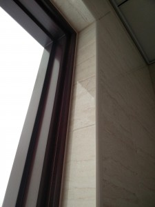 Sobha international city row houses : Pvc strips for waterproofing at corners.