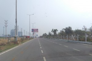 Approaching Greater Noida from Noida