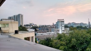 ISKCON Temple and Yeshwanthpur area as seen from the Metro station