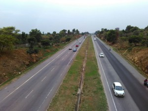 View of NICE road at 200m from Godrej Eternity Project Site