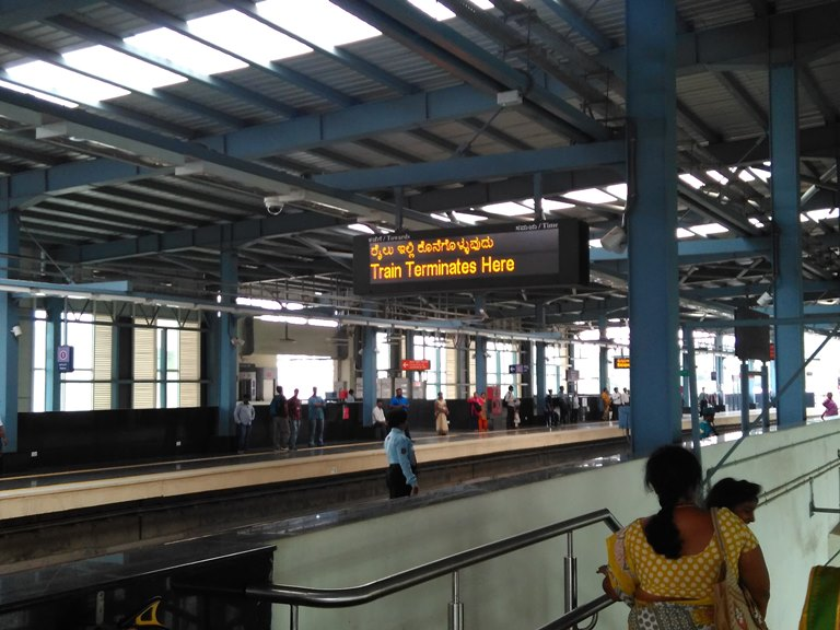 Mysore Road Station is currently the last stop of Phase 1 Bangalore Metro