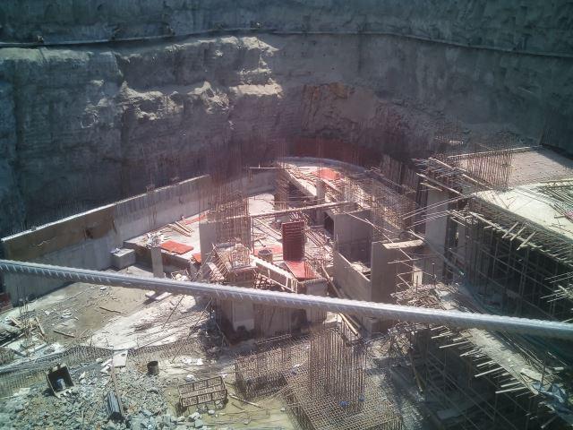 Excavation at the site: Kanakia Rainforest
