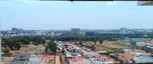Unhindered views from an under construction Penthouse at Assetz East Point