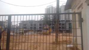 View of the Purva Coronation Square project site, jp nagar