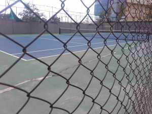 View of the Tennis court, Godrej Woodsman Estate