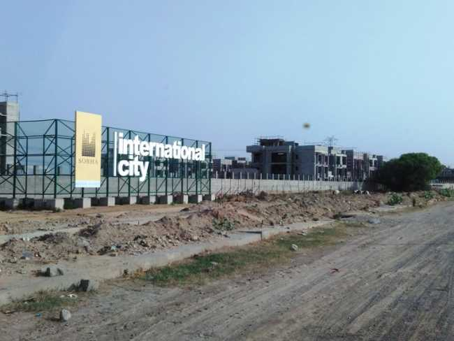 Sobha International City from the back road, functional connectivity to Delhi