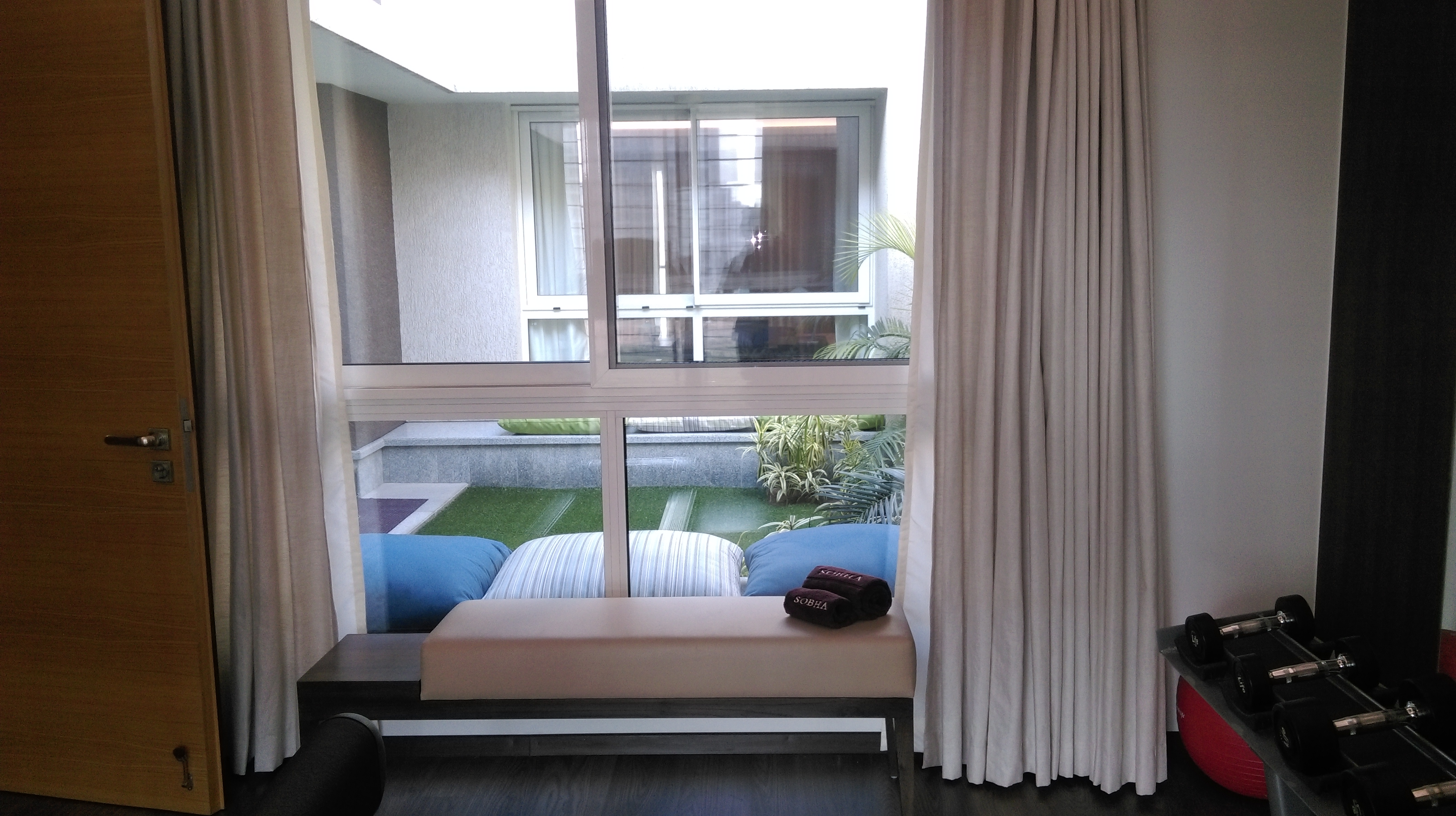 View of terrace garden at Sobha International City Villas
