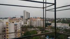 View from the under construction pent house of Assetz Lumos