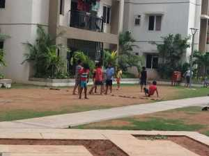 Open spaces for children to play