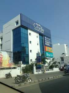 Picture of the Apollo Cradle Maternity Hospital from the main road close to Godrej Azure, Chennai