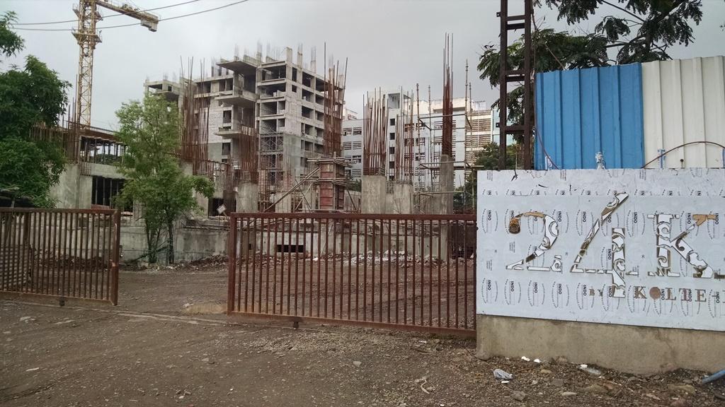 Site of Kolte-Patil's 24K Giga project in Viman Nagar on Nagar Road