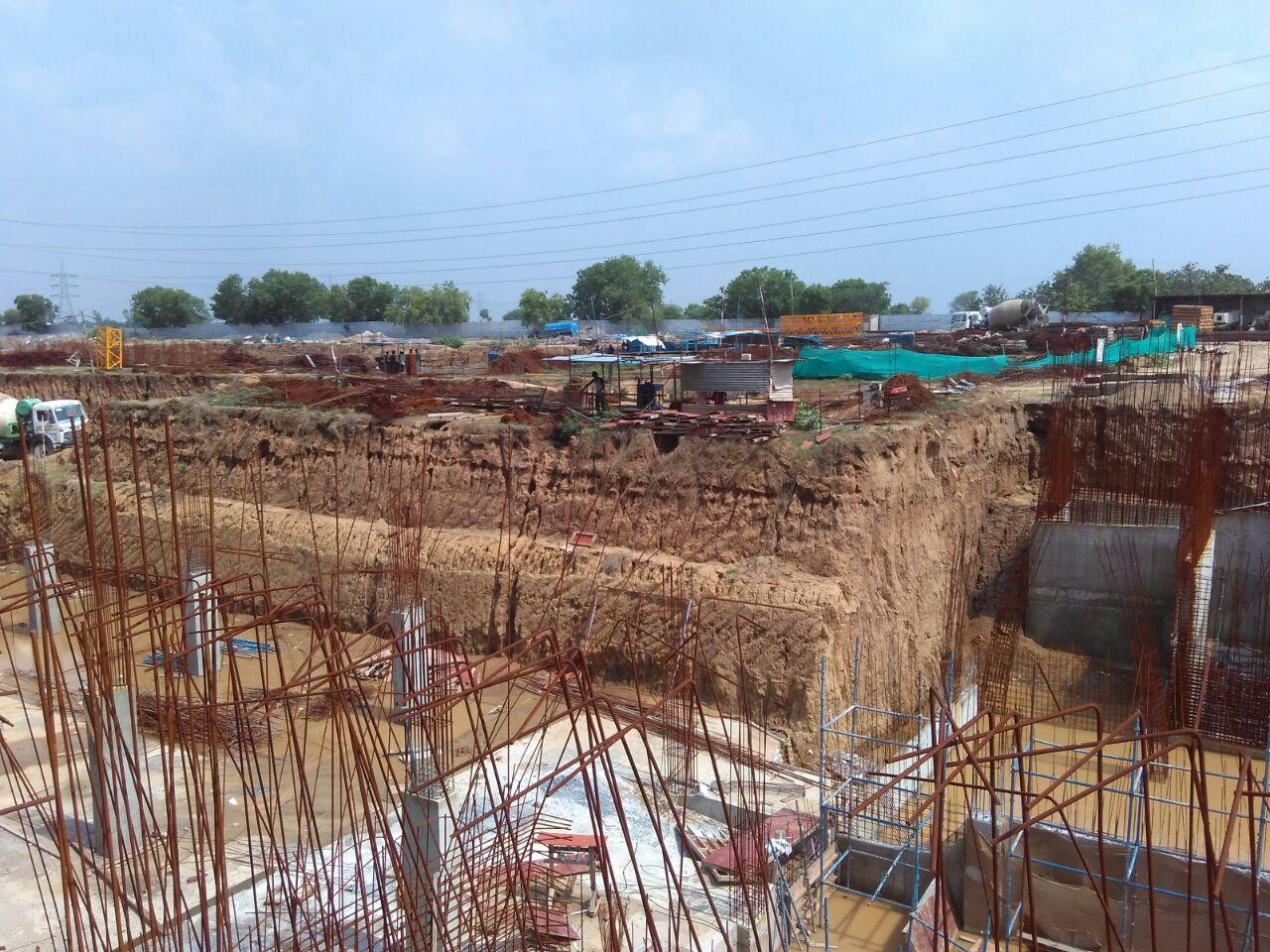 Under-construction site at ILD Arete, August 2016