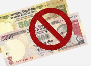 Invalidated Rs. 500 and Rs. 1000 notes