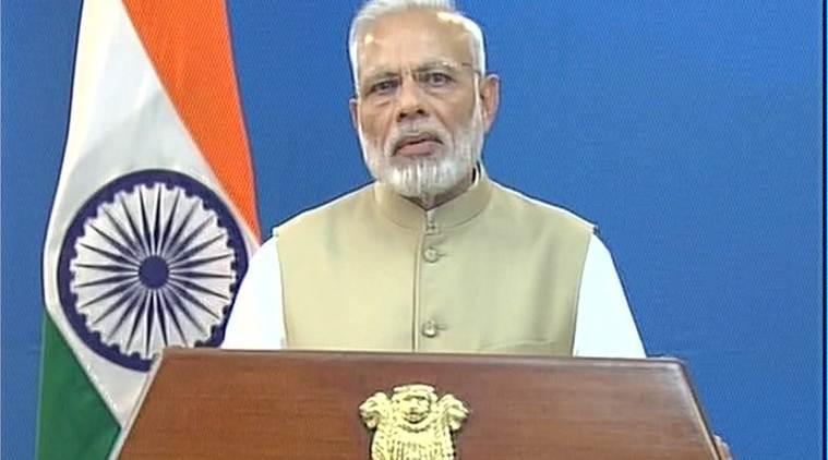 Prime Minister Narendra Modi announcing the crackdown on black money