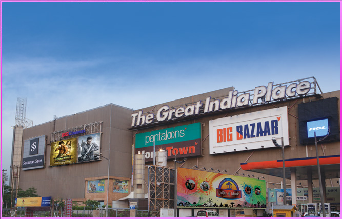 The first biggest mall of Noida- Great India Place