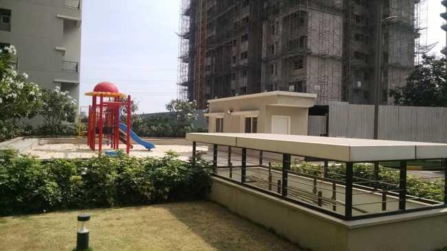 Kids' play area at site of Sobha Garnet & Sobha Orion