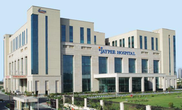 The operational Jaypee Hospital at Noida