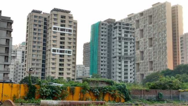 Unnathi Woods Phase 3 - completed and under-construction tower