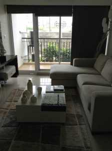Godrej Azure, model apartment, View of the living room looking out onto the balcony