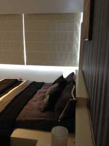 Godrej Azure: View of the master bedroom of the model apartment
