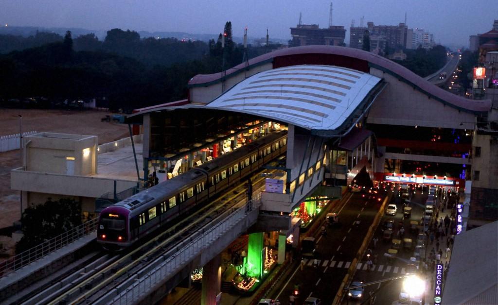 Namma Metro Station in Bengaluru
