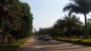 Road leading towards GM Infinite E-city Town