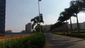 Road leading towards GM Infinite Global Techies Town, e city, electronic city