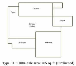 Floor plan, Prestige Sunpark Rise, electronic city