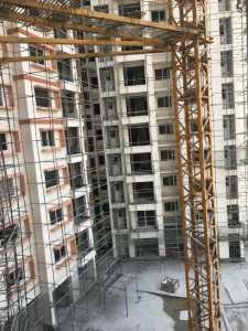 Ongoing final finishing work at the back side, construction status, puravankara, cv raman nagar