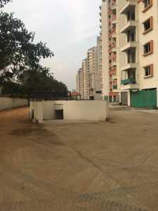 Ramp to the basement car park, construction status, puravankara, cv raman nagar