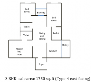 Floor plan of GM infinite Global Techies Town, e city, electronic city