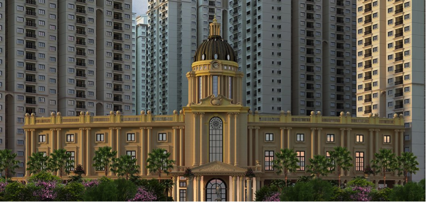 Artist's representation of Global Techies Tower (Image source: http://www.gminfinite.com/images/banner/banner1.jpg)