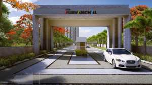 Indicative image of entrance to VTP Purvanchal project in Wagholi, Pune