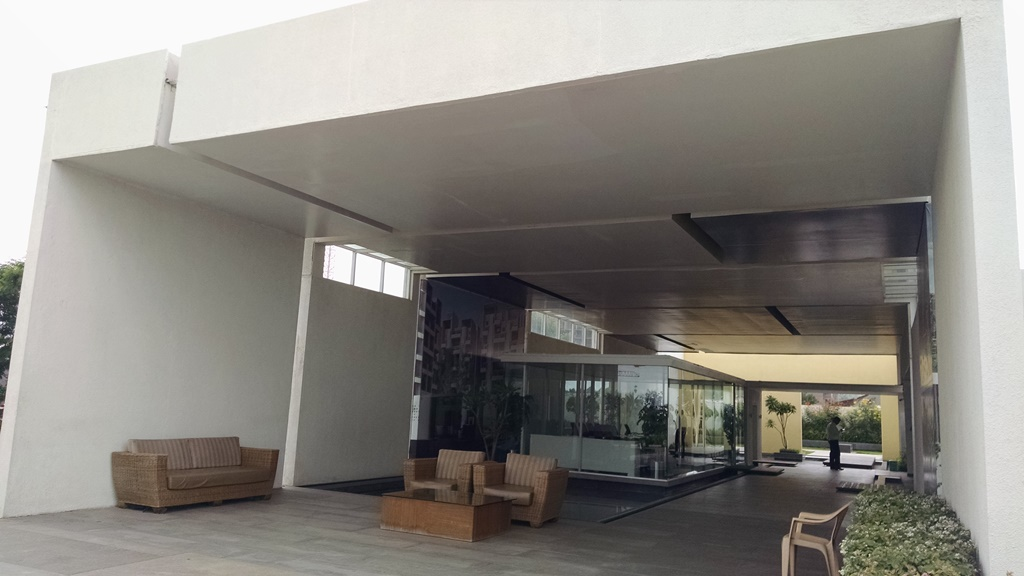 Sales office at the site of Rohan Abhilasha project in Wagholi, Pune
