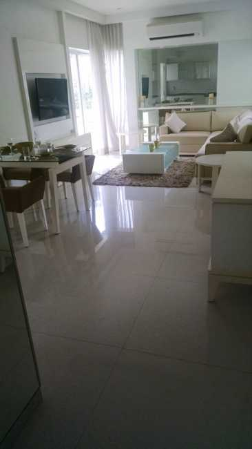 Living cum dining room in sample apartment of Rohan Abhilasha project in Wagholi, Pune