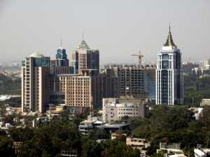 Trends in Bangalore Real Estate: Aerial shot of UB City, Bangalore
