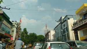 Sarakki Main Road near the site of Sobha Dewflower project in JP Nagar, Bangalore