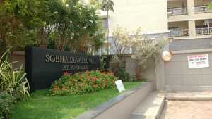 The entrance to Sobha Dewflower project in JP Nagar, Bangalore
